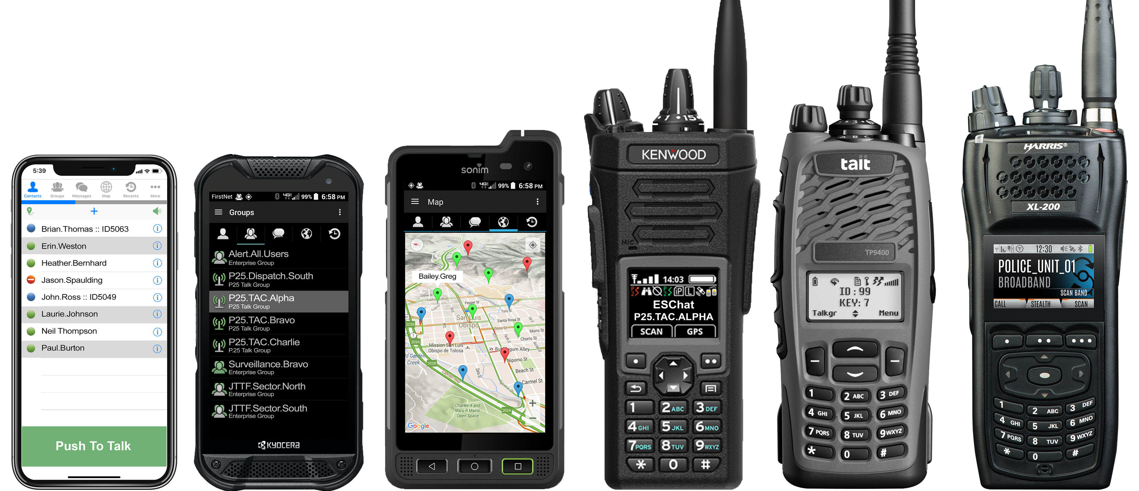 Push-to-Talk for your Smartphone with Integrated Radio Interoperability